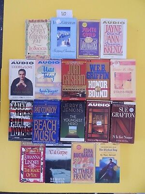 Lot of 18 Mixed Audio Books on Cassettes. L110