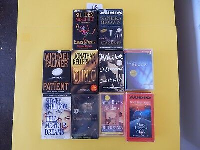 Lot of 10 Mixed Audio Books on Cassettes. L118