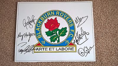 Blackburn Rovers Signed Managers Plaque