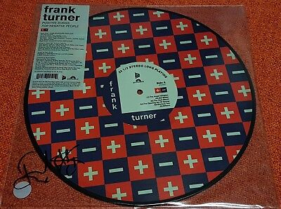 FRANK TURNER - Positive Songs - 2015 Xtra Mile PICTURE DISC Ltd Ed Vinyl SIGNED