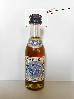 Mini Bottle Cognac Martell *** (1) Capsule Vis 3 Cl Miniature