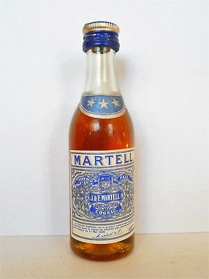 Mini Bottle Cognac Martell *** (1) Capsule Vis 5 Cl Miniature