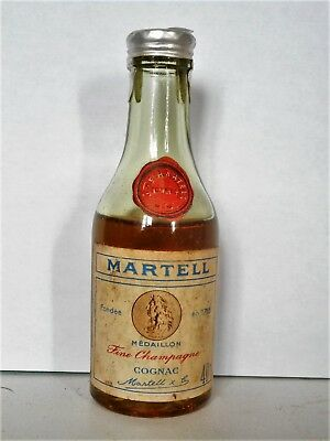 Mini Bottle Cognac Martell Medaillon Fine Champagne 3 Cl Miniature