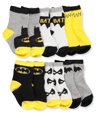 Batman Baby Boys' 6-Pack Crew Socks