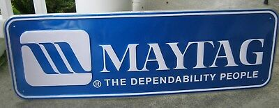 Maytag Metal Advertising Sign The Dependability People Scioto Signs 1990 USA 3'