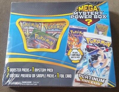 Pokemon Cards Mega Mystery Power Box Includes 1 Vintage Booster Pack
