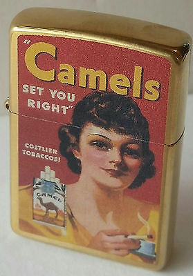 Camel Zippo Lighter WOMAN CAMELS SET YOU RIGHT CZ RARE 50 MADE NEW