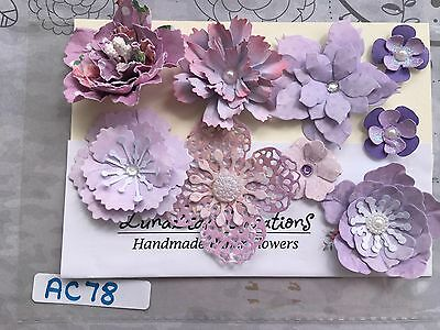 Gorgeous Assorted Packs of Handmade Paper Flower Embellishments  acb