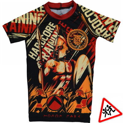 Kids Rashguard Hardcore Training Sparta Niño Compresión superior MMA Fitness