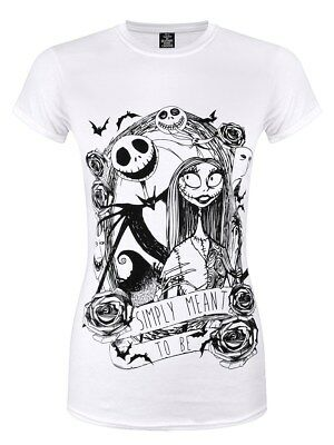 The Nightmare Before Christmas Damen T-Shirt Simply Meant To Be weiß
