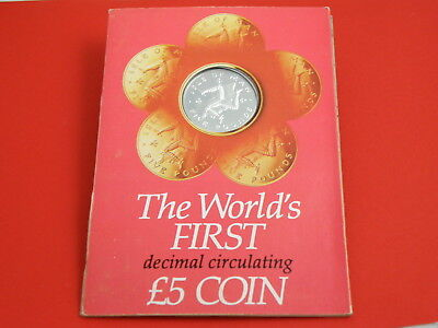 Isle Of Man - 1981 Sterling Silver Proof Five Pound £5 Crown Coin - Triskelion