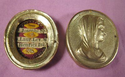 Antique Case With The Relics Of 3 Saints -