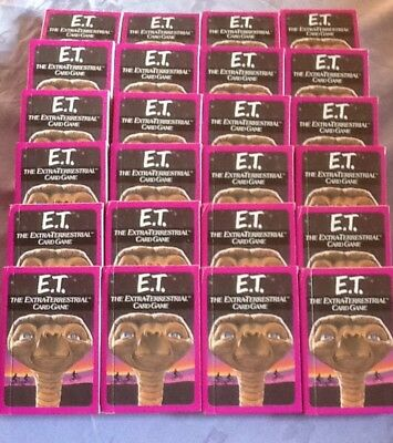 ET THE EXTRA TERRESTRIAL CARD GAME by PARKER 24 sealed packs in display box