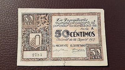B-D-M España billete local Graus 50 céntimos 1937 MBC VF