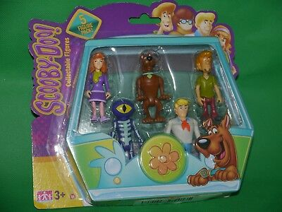 Scooby Doo ~ 5 Figure Pack ~ Collectable Daphne Shaggy Scooby Fred Skeleton _NEW