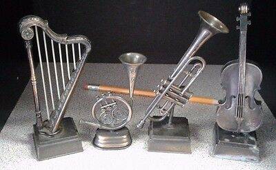 Vintage Die-Cast Selection of Musical Instruments Pencil Sharpeners
