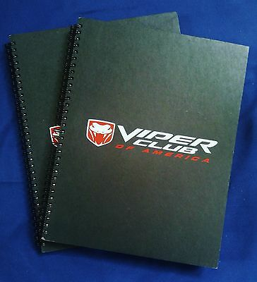 (2) Dodge Viper Club Of America Hard Cover Notebooks W /lined Paper, Never Used