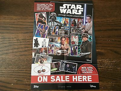 From 16p Each, Topps STAR WARS UNIVERSE STICKERS, Choose From List