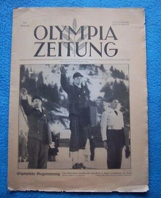 Orig.PRG / Newsletter  Olympic Games G.PARTENKIRCHEN 1936  -  CLOSING CEREMONY !