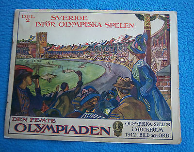 Orig.PRG / Pictorial Review   Olympic Games STOCKHOLM 1912 - PREVIEW  !!  RARITY