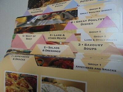 Quick Light & Delicious Recipe Cards - and Index Cards -171 Cooking Cards
