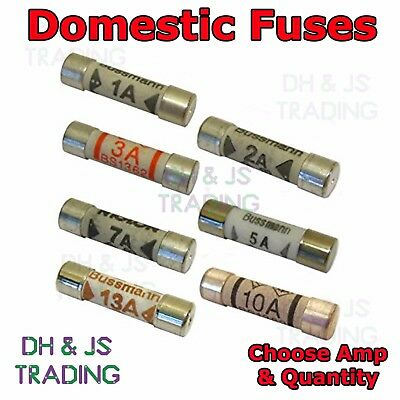 Domestic Fuse Ceramic Cartridge Plug Top Fuses 1 - 13 Amp House Mains Plug Fuse