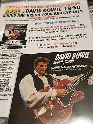 David Bowie Sound And Vision Tour Rehersals 1990  Cd Set