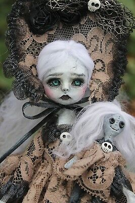 OOAK art doll faux Broken Lil Poe Collection A. Gibbons monster goth Victorian
