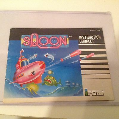 Vintage NES (Nintendo Entertainment System, 1987) Sqoon Manual Only by Irem