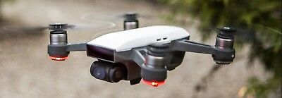 DJI Spark Mini Drone Fly More Combo - Alpine White & Extra Battery