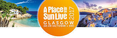 2 Tickets - A Place in the Sun Live - Glasgow SEC - AOD 28 to 29 October