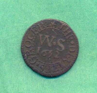 Token 1652 Farthing William Somner Devizes ( Wiltshire )