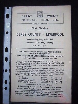DERBY COUNTY - LIVERPOOL FC  1948/49   Division 1  // Orig.Programme  !!  RARE