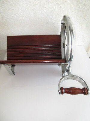 alte Royal Raadvad Bread Slicer Brotschneidemaschine Brotmaschine CHROM selten!!
