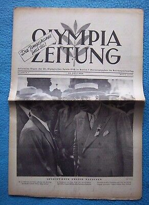 Orig.PRG / Newsletter  Olympic Games BERLIN 1936 - 25.07. // Preview  !!  RARE