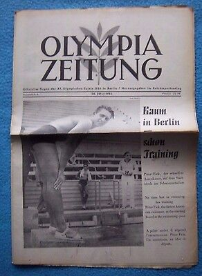 Orig.PRG / Newsletter  Olympic Games BERLIN 1936 - 26.07. // Preview  !!  RARE
