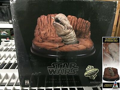 2007 Star Wars Sideshow This Is No Cave Space Slug Statue (Gentle Giant,attakus