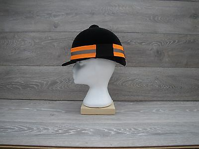 High Visibility  Reflective Hat Band Horse Riding Cycling Fluorescent Orange