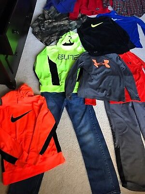 Lot Of Boys Small, Medium Nike Elite, Under Armour, Polo And Gap Jeans