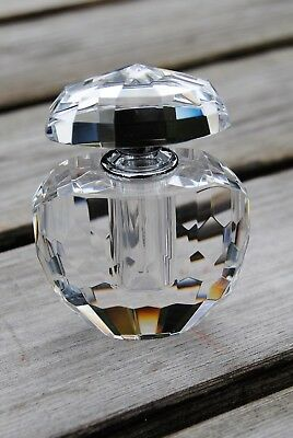 Beautiful Crystal Cut Glass Scent Bottle Lovely Quality