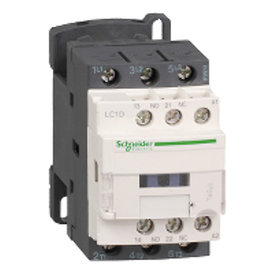 Schneider Electric TeSys Offer (LC1D40AB7) 3 Pole Contactor ;22 kW ; 24V AC Coil
