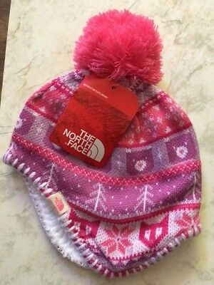 The North Face Baby Faroe Beanie XXS Youth Pink Pattern Brand New W/Tags
