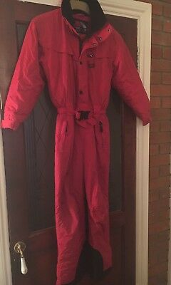 Kids girls boys RED TRESPASS SKI SNOW SUIT All In One -  age size 9 10 years