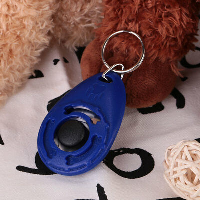 Pet Dog Puppy Training Clicker Trainer Teaching Train Tool With Keychain Tool