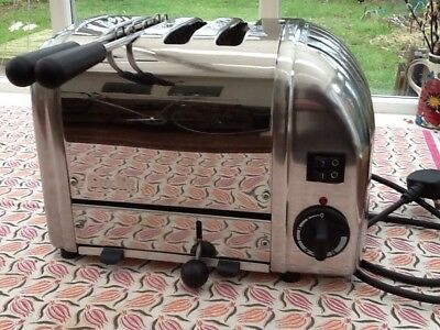 DUALIT 3 SLICE (2+1) Stainless Steel Toaster FULLY REFURBISHED, PAT TESTED