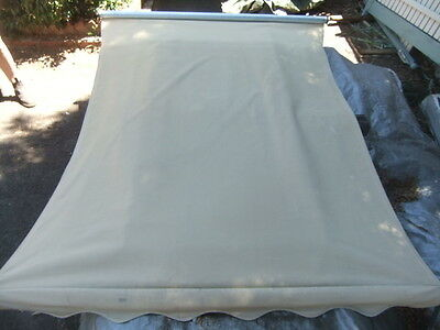 CANVAS AWNING BLIND Complete w Poles Fittings Canopy Recycled Demolition House