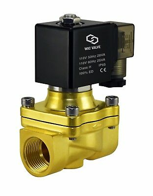 "3/4"" Inch Electric Air Water Zero Differential Solenoid Process Valve 110V AC"
