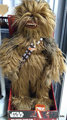 "Underground Toys Star Wars Super Deluxe Realistic Chewbacca 24"" Plush In Box"