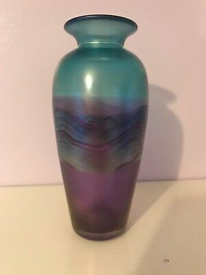 Jonathan Harris Studio Glass Art Glass Vase - Signed - Ironbridge 2002