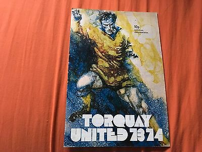 Torquay United v Gillingham Football Programme 73/74 Good Condition